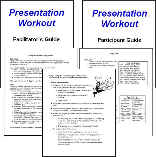 Presentation Workout