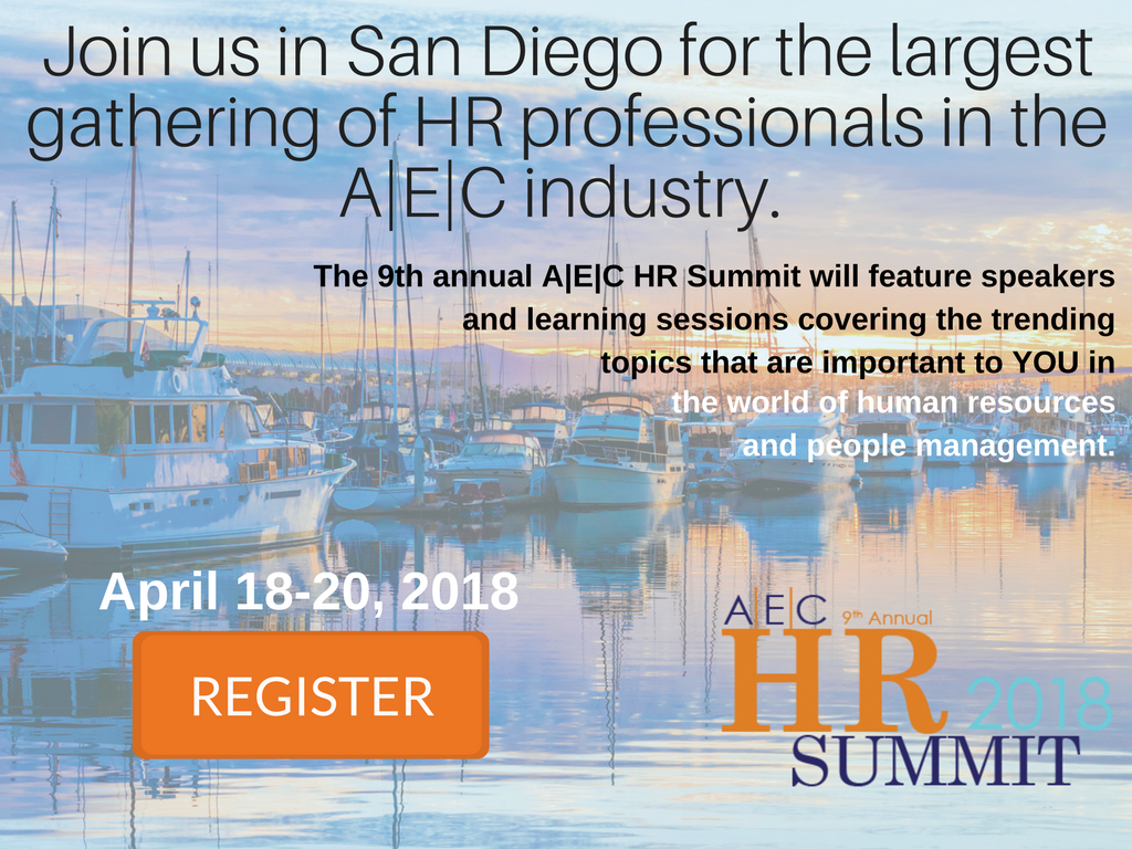 Welcome to San Diego for the AEC HR Summit