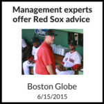 Management experts offer Red Sox advice